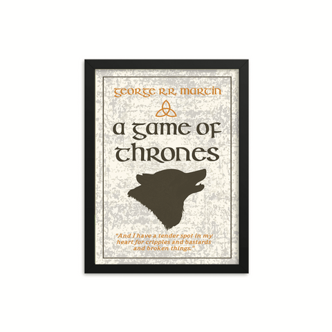 A Game of Thrones by George R.R. Martin Book Poster