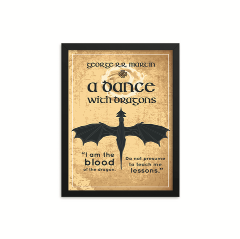 A Dance with Dragons by George R.R. Martin Book Poster