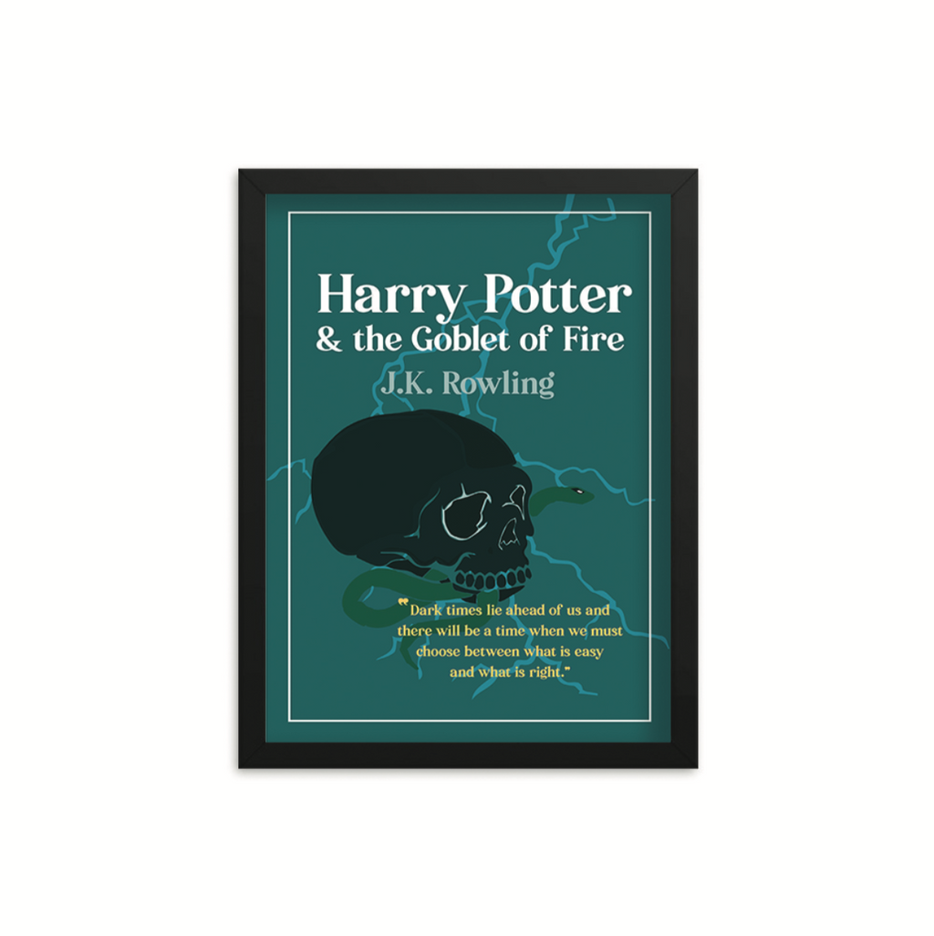Harry Potter & the Goblet of Fire by J.K. Rowling Book Poster