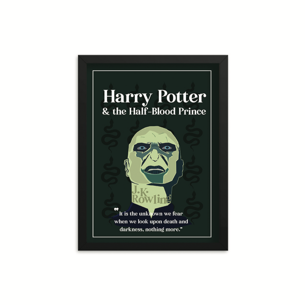 Harry Potter & the Half-Blood Prince by J.K. Rowling Book Poster