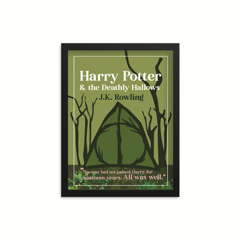 Harry Potter & the Deathly Hallows by J.K. Rowling Book Poster