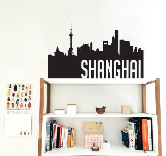 Shanghai Silhouette Decal