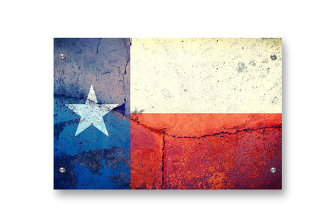 Texas Flag Printed on Brushed Aluminum