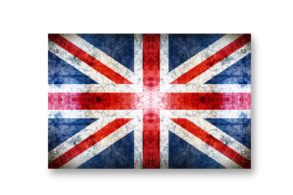 UK (Union Jack) Flag Printed on Brushed Aluminum