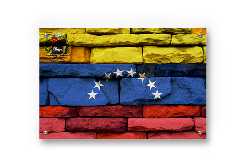 Venezuela Flag Printed on Brushed Aluminum