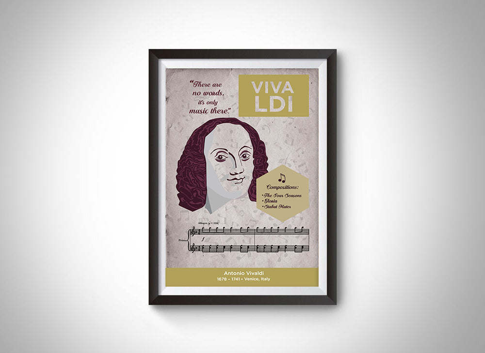 Antonio Vivaldi: Classical Composer Poster Wall Art