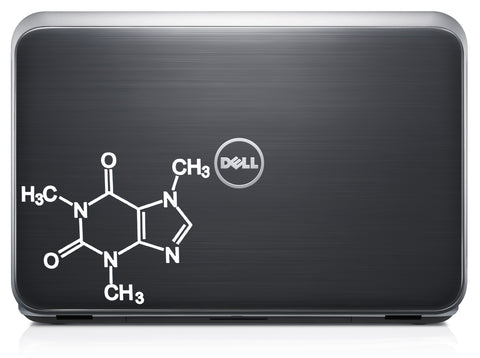 Caffeine Chemical Structure Decal Sticker