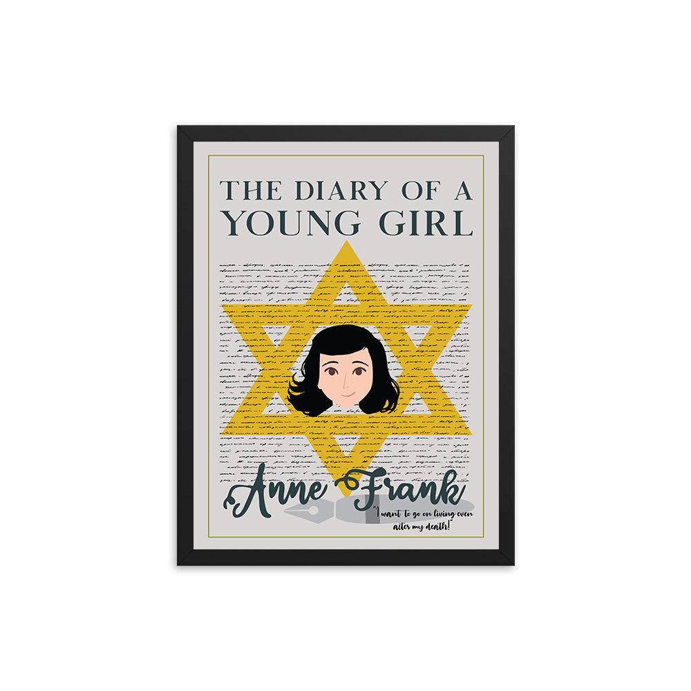 The Diary of a Young Girl by Anne Frank Book Poster