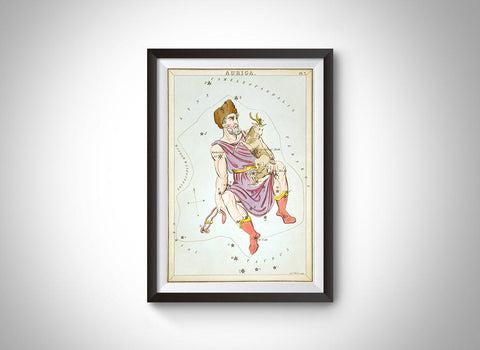 Auriga Constellation (Urania's Mirror) Wall Art
