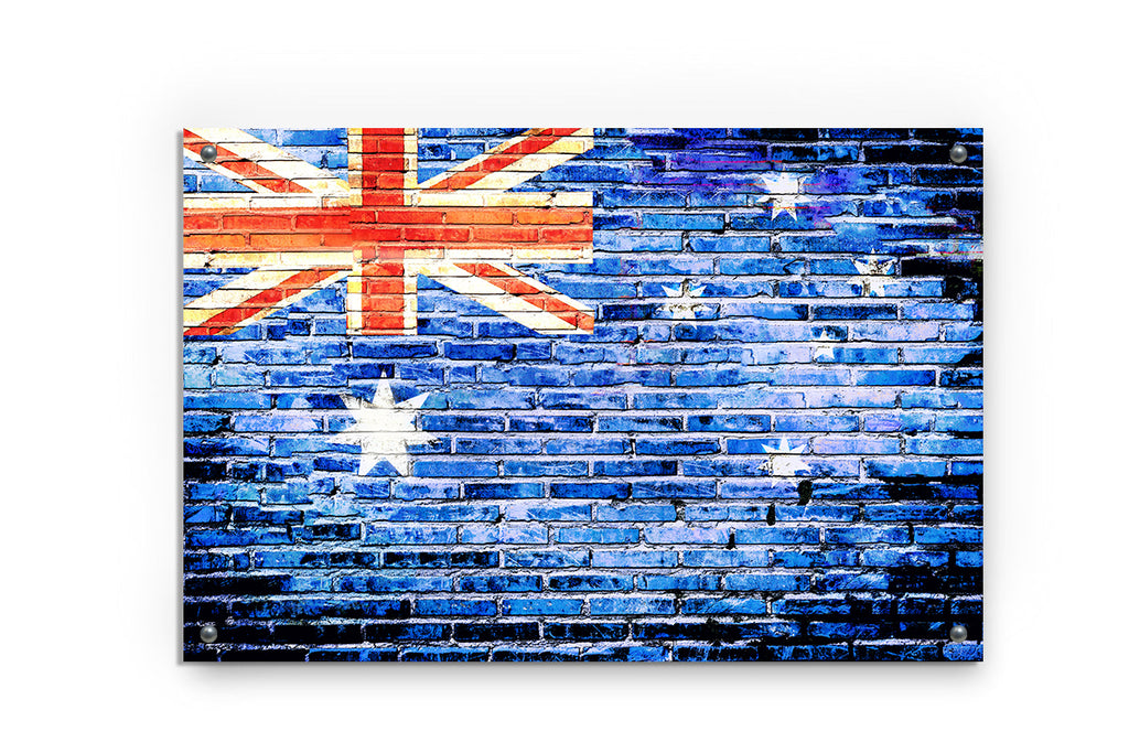 Australia Flag Printed on Brushed Aluminum