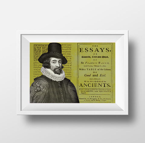 Francis Bacon Scientist Portrait Poster