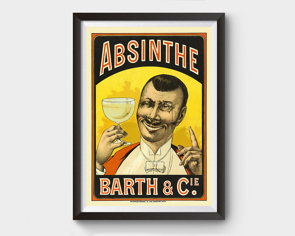 Barth and Cie (Absinthe) Vintage Ad Poster