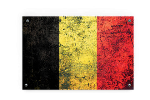 Belgium Flag Graffiti Wall Art