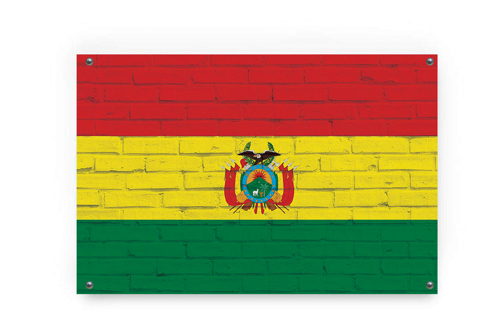Bolivia Flag Graffiti Wall Art