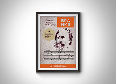 Johannes Brahms: Classical Composer Poster Wall Art