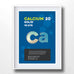 Calcium Element Poster Wall Decor