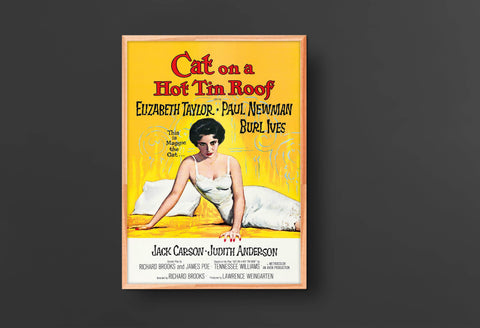 Cat on a Hot Tin Roof Movie Poster (1958)