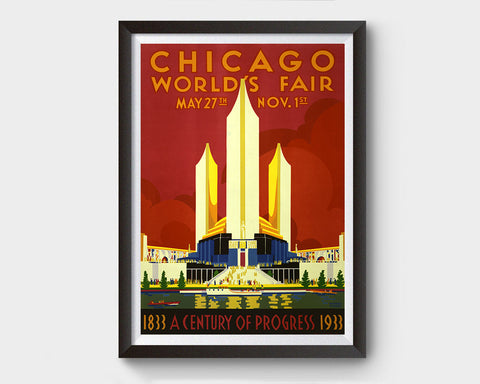 Chicago World's Fair, 1933 Vintage Ad Poster