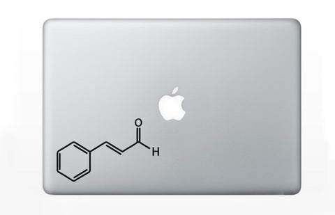 Cinnamon Chemical Structure Decal Sticker