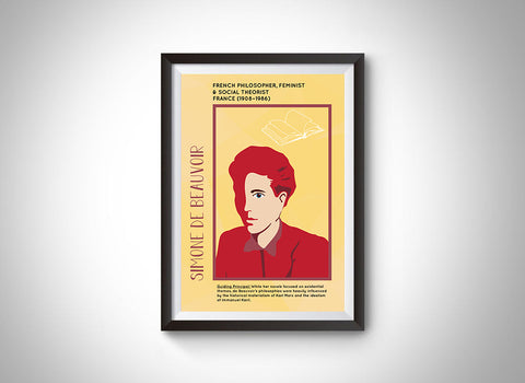 Simone de Beauvoir Poster Wall Decor