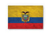 Ecuador Flag Graffiti Wall Art