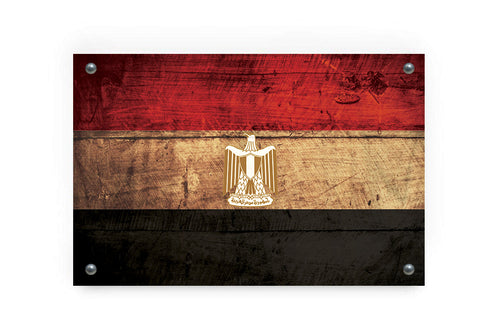 Egypt Flag Graffiti Wall Art