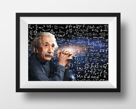 Albert Einstein Scientist Portrait Poster