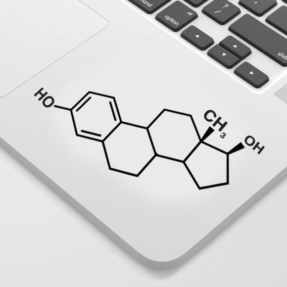Estrogen Chemical Structure Decal Sticker