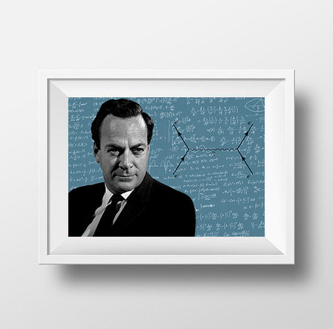 Richard Feynman Scientist Portrait Poster