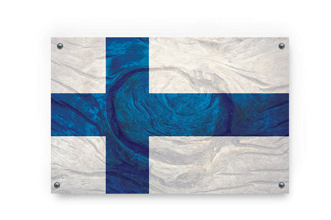 Finland Flag Graffiti Wall Art