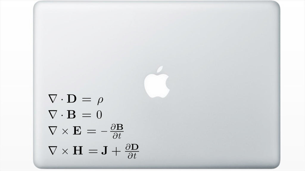 Maxwell's Equations Decal Sticker