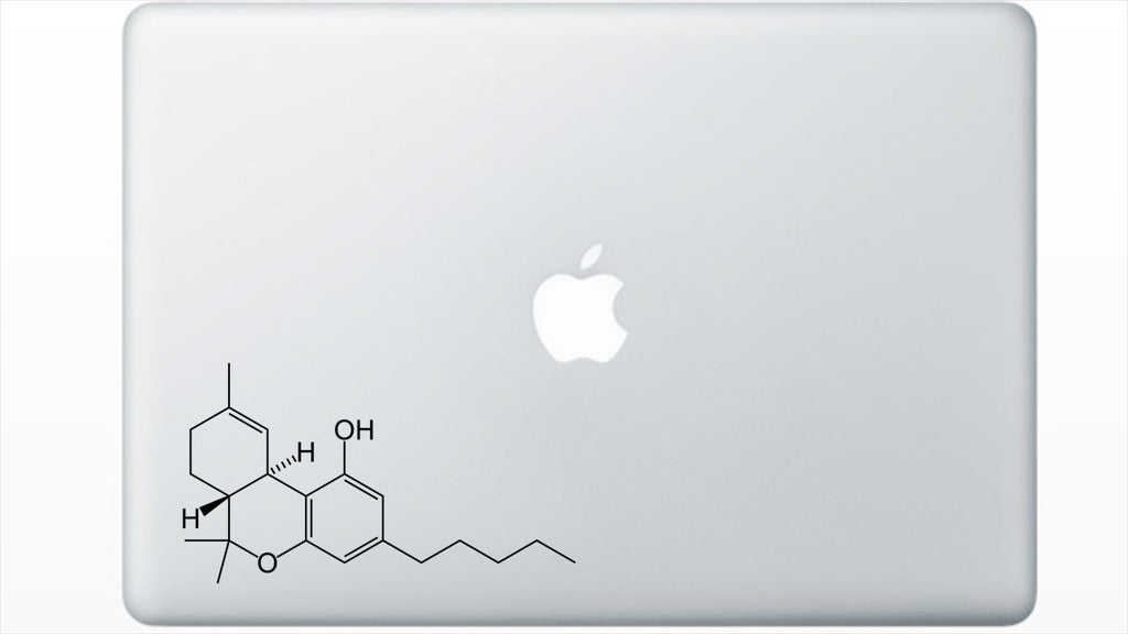 Marijuana (THC) Chemical Structure Decal Sticker