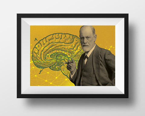 Sigmund Freud Scientist Portrait Poster