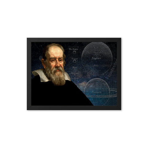 Galileo Galilei Scientist Portrait Poster