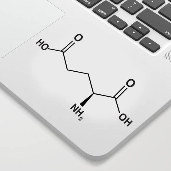 Glutamate Chemical Structure Decal Sticker
