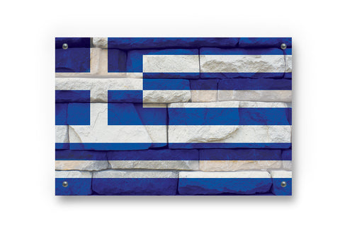 Greece Flag Grafitti Wall Art Decor