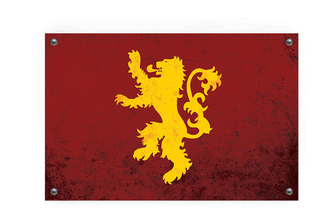 House Lannister (Game of Thrones) Flag Wall Art