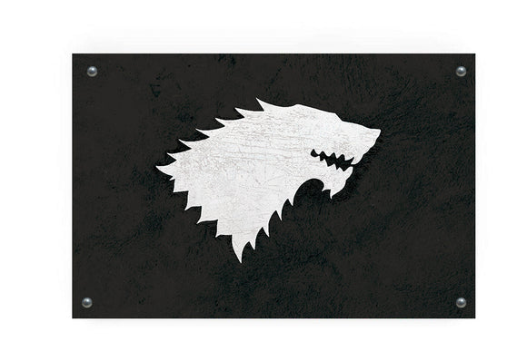 House Stark (Game of Thrones) Flag Wall Art