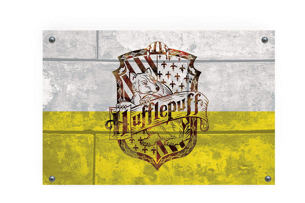 Hufflepuff House Flag Wall Decor