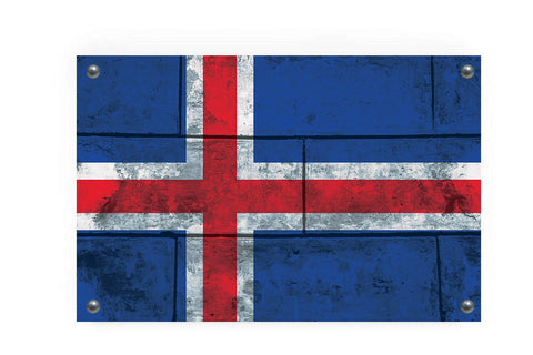 Icelandic Flag Graffiti Wall Art