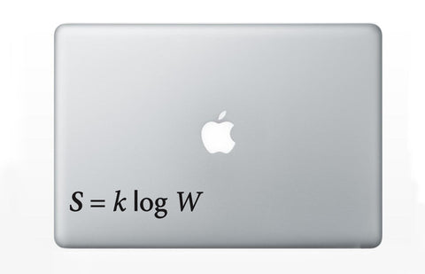 Boltzmann's Equation Statistical Mechanics Decal Sticker