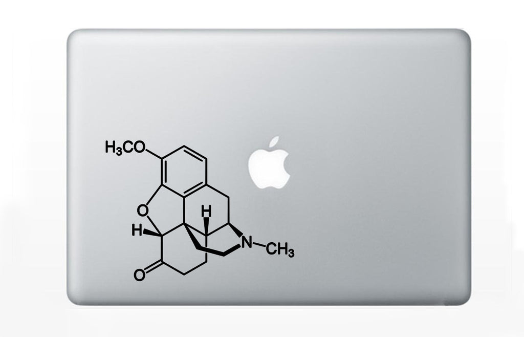 Vicodin (Hydrocodone/paracetamol) Chemical Molecule Decal Sticker