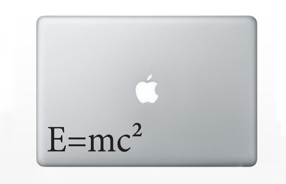 Einstein's Mass Energy Equivalence Equation Decal Sticker