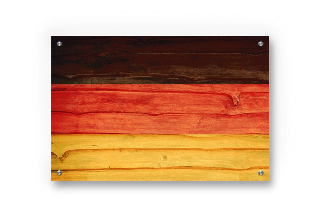 Germany Flag Graffiti Wall Art Printed on Brushed Aluminum