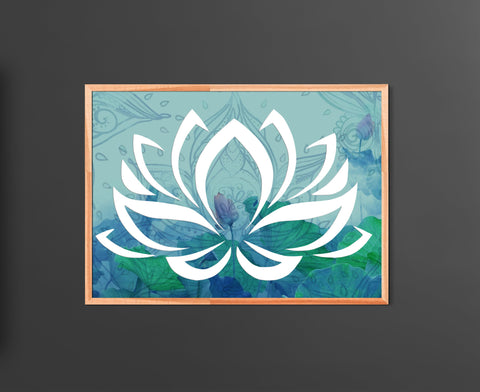 Sacred Lotus Flower Home Decor Poster