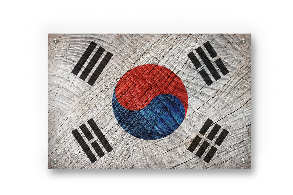 South Korea Flag Graffiti Wall Art
