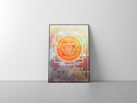 Sri Yantra Hindu Symbol Home Decor Poster