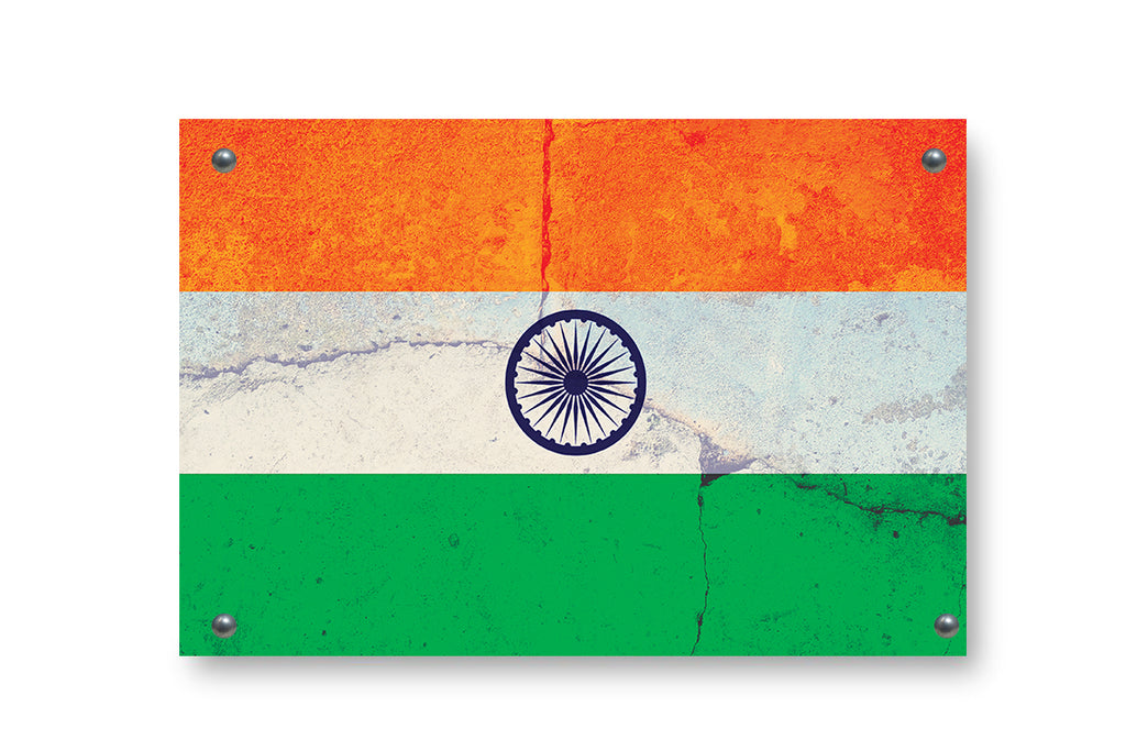 India Flag Graffiti Wall Art