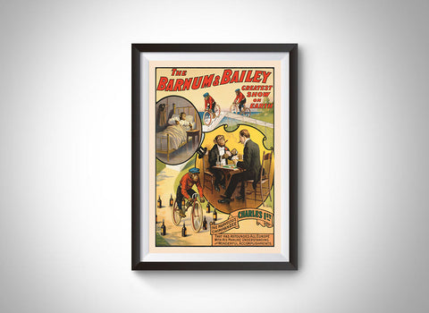 The Marvelous Chimpanzee Charles (Barnum & Bailey) Vintage Ad Poster