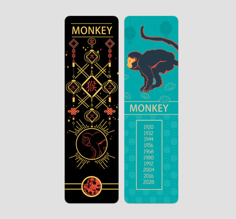 Monkey Chinese  Zodiac Bookmark